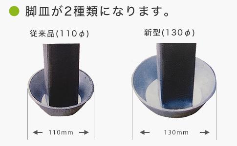 脚皿が2種類